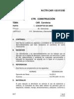 N CTR CAR 1-02-013 00 Desmantelamientos y Demoliciones