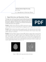 Signal Detection and Hypothesis Testing