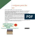 Aceite de Orégano Para Las Infecciones