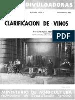 Clarificación de Vinos