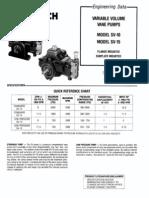 Variable Volume Vane Pumps SV 10, SV15