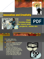 Innovation and Creativity Ppt