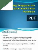 Strategi Pengajaran Dan Pembelajaran Kanak-kanak Prasekolah