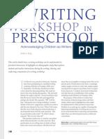 writing workshop in preschool