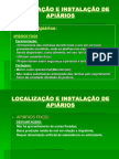 Localização e Instalação de Apiários