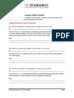2014 SEO Checklist