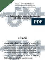 Automobile Cu Sisteme de Propulsie Hibrid Termic-electric