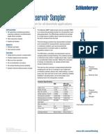 SLB Single-Phase Reservoir Sampler