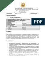 Syllabus Hidrogeología - Raúl Ortiz-2014-I