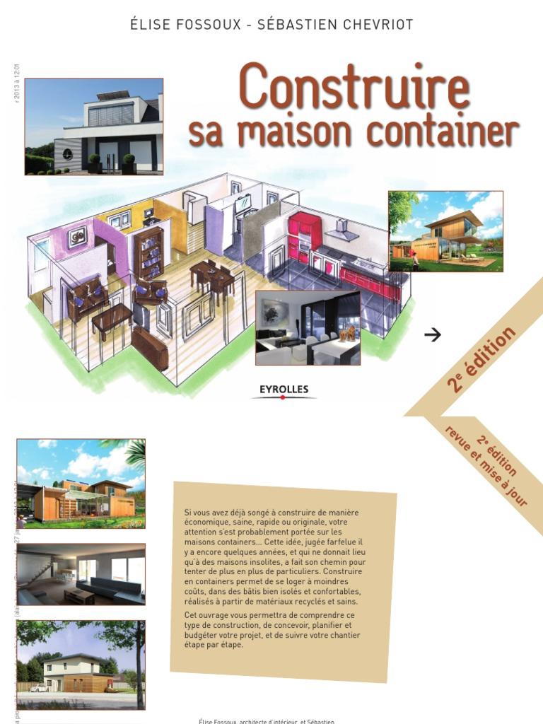 Construire sa maison container 2éme édition