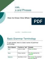 Clause vs Phrase Online