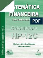 Matemática Financeira Com HP 12C - Livro - Joao Carlos Dos Santos