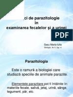 Tehnici de Parazitologie