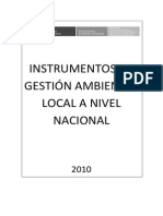 Instrumentos de Gestion Ambiental Local a Nivel Nacional
