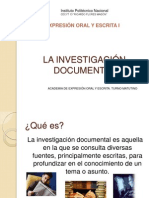 La Investigación Documental