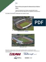 Announcement:InstallationofPAsoundsystemforNationalSoccerStadium InIceland–Laugardalsvöllur.