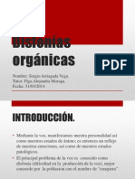 Disfonías orgánicas
