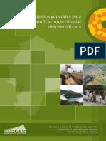 Lineamientos Generales Para La Planificacion Territorial Decentralizada