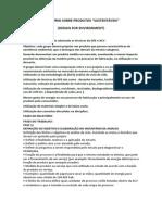 Ecorelatório - Produtos Sustentáveis - 2013
