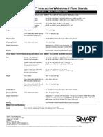 Specsheet SMART Board™ Interactive Whiteboard Floor Stands