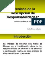 Tecnicas Descripcion de Responsabilidades