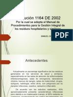 Resolucion 1164 de 2002 Desechos Hospítalarios