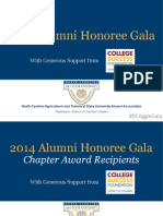 2014 NC A&T Alumni - Washington,DC Chapter Honorees