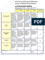 bulletin board rubric  cd258 evaluation for the professor
