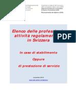 2013 Lista Autorita Compententi e Professioni Regolamentate in Svizzera