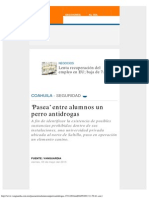 'Pasea' Entre Alumnos Un Perro Antidrogas