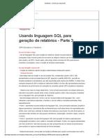 Usando SQL Geração de Relatorios Parte 3