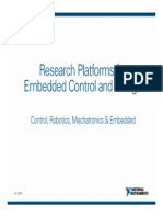 Research Platforms for Embedded Control and Design