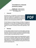 Antecedentes Economicos de Produccion Hortofruticola Organica