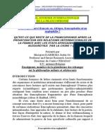 Francophobie Et Ou Anglophilie.doc (Article Reformulé)