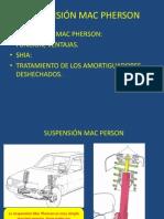 Suspensión Mac Pherson