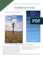 ap lang- newspaper article water shortage