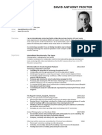 David Anthony Procter CV Apr 2014