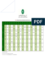 Timetable Theory Exams 2014