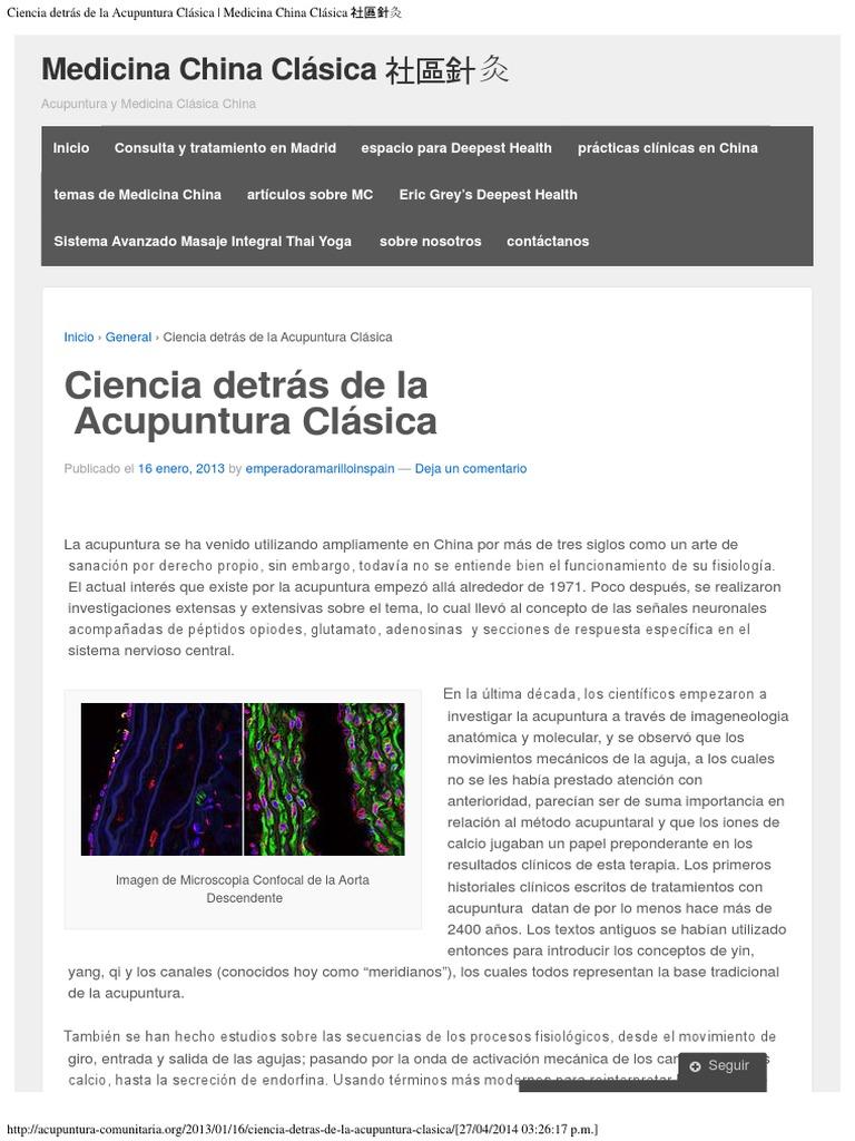 Ciencia Detrás de La Acupuntura Clásica _ Medicina China Clásica ...