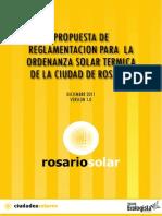 Propuesta de Reglamentcion La Ordenanza Solar Termica de Rosario