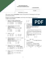 Ujian 1 matematik tingkatan 4