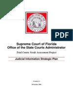 Supreme Court of Florida Judicial Information Strategic Plan