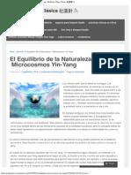 El Equilibrio de La Naturaleza – MicrocosmosYin-Yang _ Medicina China Clásica