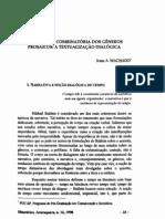 MACHADO, Irene - Narrativa e Combinatória Dos Gêneros Prosaicos, A Textualização Dialógica