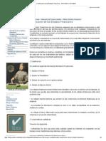 Clasificación de Los Estados Financieros - PROCESO CONTABLE