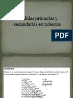 Perdidas Primarias y Secundarias en Tuberías
