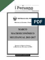 Perú - Marco Macroeconómico Multianual 2015 - 2017 - Banco Central de Reserva