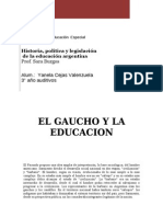 El Gaucho y La Educación- Trabajo de Burgos