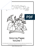 Flowers Coloring Pages Vol 1