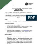 Convocatoria Cuadernos CICAJ Alumnos 2013